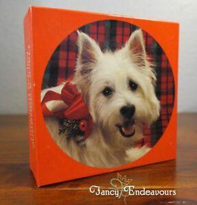 Springbok Mini Jigsaw Puzzle Westie Dog Have a doggone happy holiday! Sealed