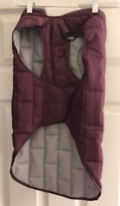 Kurgo Loft Reversible Insulated Dog Quilted Jacket Purple Gray Size Large Zipper