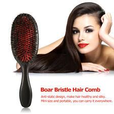 Nylon Boar Bristle Hair Brush Anti-Static Paddle Scalp Massage Comb for Salon