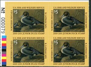 Junior Canard Tampon #8 2000 Plaque Bloc Supérieur Gauche Pintails By B.Lathham