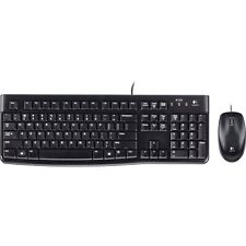 Logitech MK120 USB Wired Keyboard and Mouse Combo for Desktop Laptop PC Mac
