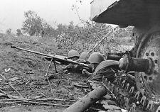 WWII B&W Photo Soviet Anti-tank Rifle Crew in Action PTRD WW2 Russia  / 1112