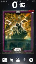 Topps Star Wars Digital Card Trader Purple Darth Vader Card Trader Illus. Insert