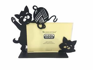 Silhouettes 5 x 3.5 Marco Para Fotografia Black Cat Metal Picture Photo Frame