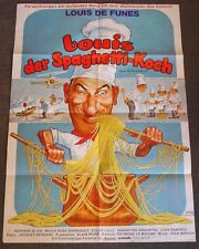 LOUIS DER SPAGHETTI - KOCH  / A1 PLAKAT / LOUIS DE FUNES / GRAPHIK : KLAUS DILL