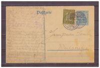 Deutsches Reich Ganzsache P 120 + ZuF Tanndorf, Colditz nach Pulsnitz 07.09.1921