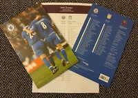 Chelsea v Aston Villa COLLECTOR'S EDITION! Programme with teamsheet! 4/12/19