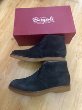 Authentic Fratelli BORGIOLI SUEDE boots Size US10.5 EUR43.5 Made In Italy