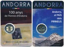 Andorra 2x 2 € Euro GM 2017 BU im Blister, Hymne und Land in den Pyrenäen