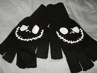 New The Nightmare Before Christmas Jack Skull Bone Face Fingerless Gloves Disney