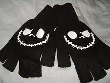 New The Nightmare Before Christmas Jack Skull Bone Face Fingerless Gloves Disney