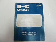 1982 1983 Kawasaki JS550 Jet Ski Watercraft Service Repair Manual FADED WATER