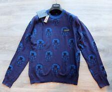 PHILIPP PLEIN PULLOVER L m pp pulli sweater blue skull unfair