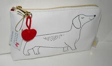 Retro Dachshund Cosmetic Travel Bag New tags Purse Funny Dog Paper Destiny