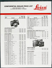 Leitz Leica Dealer Pric Elist 1990, 6 Pgs, Ex/133236