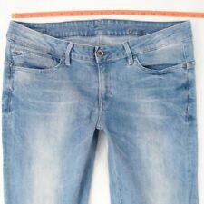 Ladies Womens G-Star MIDGE STRAIGHT Stretch Blue Jeans W35 W34 L32 UK Size 14