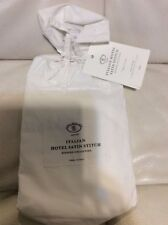 Restoration Hardware Italian Hotel Satin-Stitch King Sham White & White NWT!