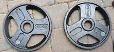 PAIR Weider 25 Pound Olympic Weight Plates - Iron