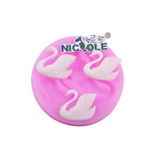 Swan Silicone Chocolate Mold Fondant Cake Baking Biscuit Candy Resin Clay Molds