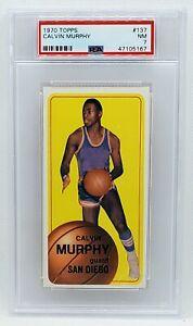 1970 Topps Basketball Card #137 Calvin Murphy Rookie Card PSA 7 NM Graded