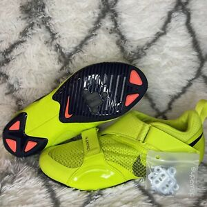 Nike SuperRep Cycle Indoor Cycling Shoes Peloton Cyber Volt CJ0775-348 Sz 14