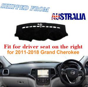 RHD Dashboard Dash Mat Dash Cover NoN-Slip For Jeep Grand Cherokee 2011-2018