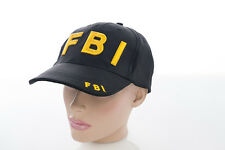 NEU FBI Cap Mütze Basecap Baseballcap BB Baseball Baumwolle BW mit Stick Druck