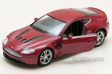 Aston Martin V12 Vantage red, Welly 43624F, scale 1:34-39, toy car gift