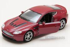 Red Aston Martin Vantage V12 1.38 Opening Doors Diecast Model Boys Toys