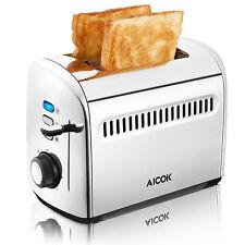 Toaster Auftaufunktion 2 Scheiben 7 Stufen Extra Breit Krümelfach 950W Edelstahl