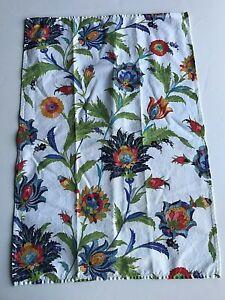"2 William Sonoma Linen Floral Towels 30""x20"""