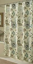 NEW M. Style Morgan Floral Fabric Shower Curtain Blue