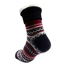 Para Hombre Calcetines Gruesa De Invierno Cálido aislamiento térmico (4.7 Tog) UK 6-11 499A rojo y blanco