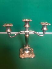 silver plated candleabra  vintage used made in england metalware collectables
