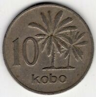 1973 NIGERIA 10 KOBO WORLD COIN NICE!
