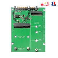 Carte convertisseur 2 en 1, M.2 NGFF mSATA SSD vers SATA 3.0, 2.5 pouces 7+15pin