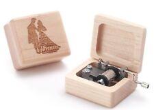 Beech Wood Engrave ( ANASTASIA ) Cartoon Hand Crank Music box