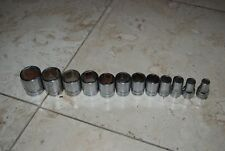 "Snap On 12 Pc 1/2"" Drive 12 Point Shallow Standard Socket Set 3/8"" - 1 1/8"""
