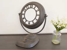 New Vintage Industrial Distressed Round Tilting Mirror With Numbers