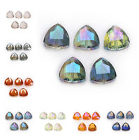 Faceted Glass Crystal Triangle Beads Loose Spacer Bead Jewelry Making Craft