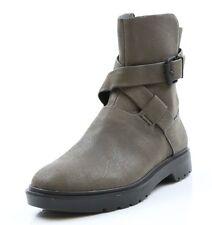 Women Calvin Klein Byra Dark Grey Side Buckle Boots Size 6
