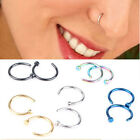 One pair Stainless Steel Nose Open Hoop Ring Earring Body Piercing Studs Jewelry