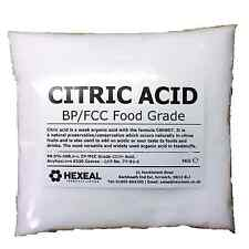 CITRIC ACID | 1KG BAG | 100% Anhydrous | Coarse | GMO Free | BP/FCC Food Grade
