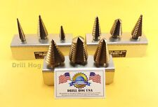 Step Drill Bit Set M7 Molybdenum Step Bit UNIBIT Moly Lifetime Warranty USA MADE