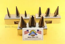 Step Drill Bit Set Molybdenum Step Bit UNIBIT Moly Drill Hog Lifetime Warranty