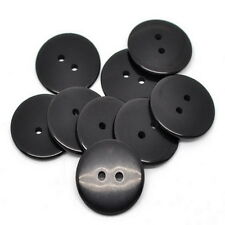 25PCs Black 2 Holes Resin Sewing Buttons 23mm