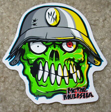 "METAL MULISHA Eyegore Skull Sticker 3"" motocross skateboard bike decal skate"