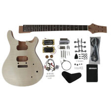 Coban DIY Guitar Kit Flamed Maple Veneer with NON-Soldering Chrome fit PR840