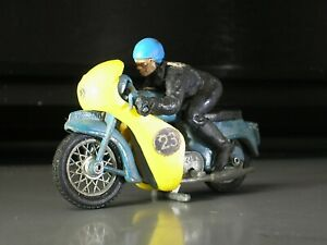 Vintage Britains TRIUMPH Speed Twin Cafe Racer RARE Motorcycle + original Rider