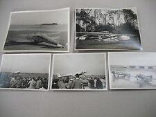 5 ORIGINAL VINTAGE 1930s PHOTOS OF AIRCRAFT TAKEN AT AIR SHOWS & EXIBITIONS!